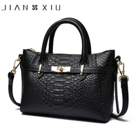 JIANXIU Brand Women Genuine Leather Handbags Famous Brands Handbag Cow Leather Crocodile Texture Messenger Shoulder Bags