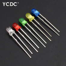 100pcs 3mm LED diode Light Assorted Kit DIY LEDs Set White Yellow Red Green Blue electronic diy kit Emitting Diode Lights
