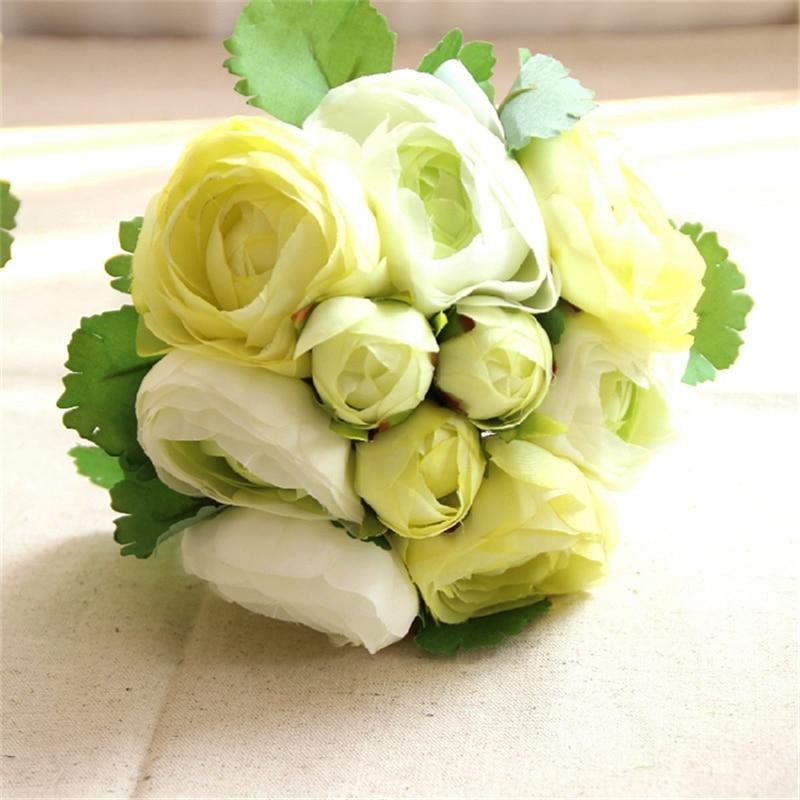 10 koka me trëndafila artificiale Buqeta e dasmave Lule dekorative e - Furnizimet e partisë - Foto 3