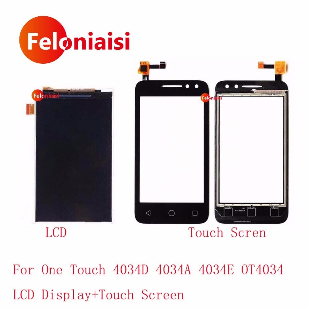 Haute Qualité 4.0 ''Pour Alcatel One Touch 4034D 4034A 4034E OT4034 Écran lcd Avec Écran Tactile Digitizer Panneau Capteur