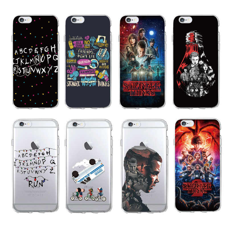 Stranger Things Christmas Lights Soft silicone TPU Phone Cases For iphone 11 Pro 7 7Plus 6S 6Plus 5 5S SE 8 8Plus X XS Max Cover