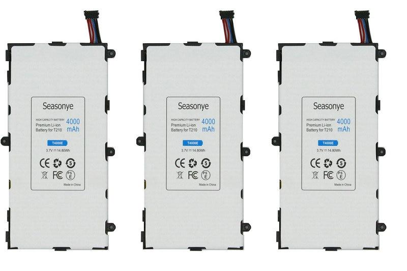 Seasonye 3pcs/lot 4000mAh T4000E Replacement Battery For Samsung Galaxy Tab Tablet 3 7.0 T211 T210 T215 T210R T2105 P3210 P3200