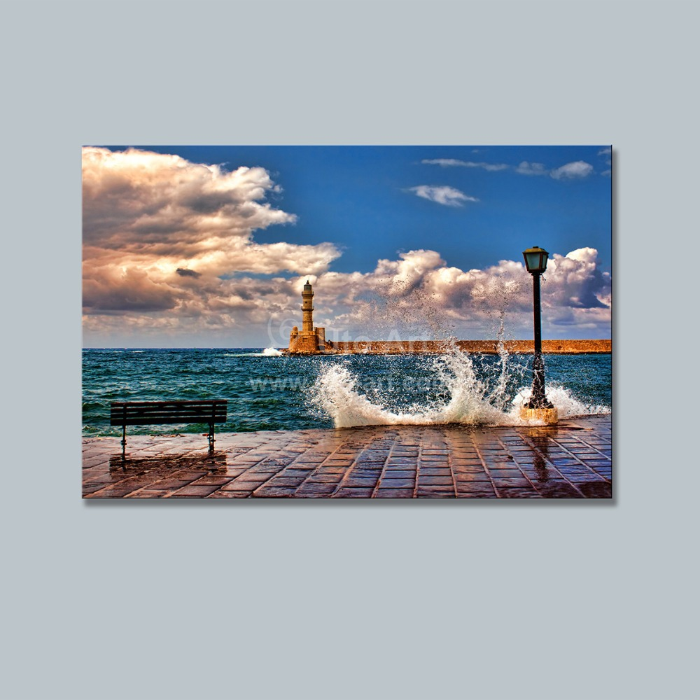 guarantee new cheap wall frames canvas art painting seashore custom canvas prints picture modern paintings on wall art photo