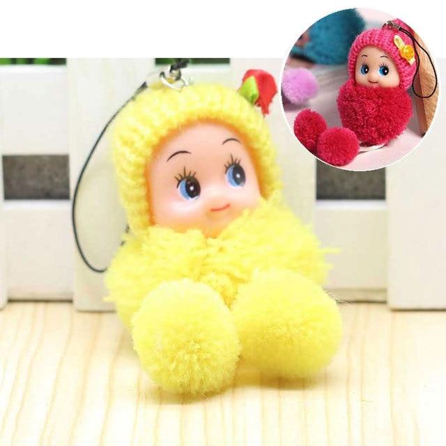CHXINHNS Crianças Saco De Bebê Bonito Dos Desenhos Animados Chaveiro Mini Pelúcia Macia Brinquedos de Pelúcia Chaveiro de Pelúcia Chaveiro Bonecas Do Bebê para Meninas mulheres