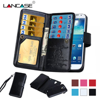 Magnetic 2 In 1 Luxury 9 Card Sot Leather Wallet Case Flip Cover Cash Slot Photo