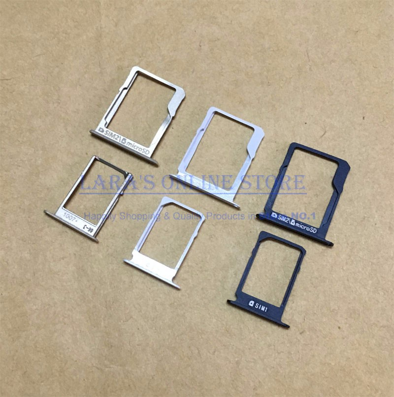 Original Micro Sim + SD Card Tray Reader Holder Slot Adapter for Samsung Galaxy A3 A300/A5 A500/A7 A700 Phone Parts