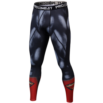 Marka giyim 2018 yeni Erkek pantolon sıkıştırma 3D baskı süper kahraman superman/cheetag tayt M-3XL.