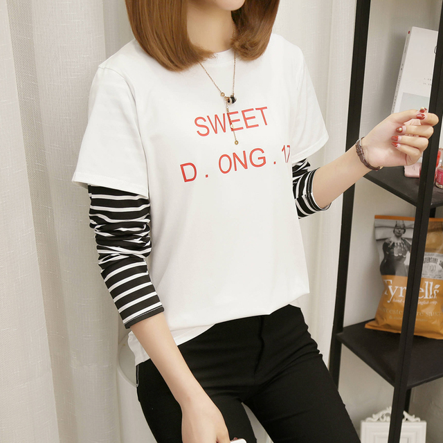 b9f88bcd1 long sleeve autumn teenage girls t-shirt striped 2017 new fashion children  clothing 13 14 15 16 years old fall clothes kids