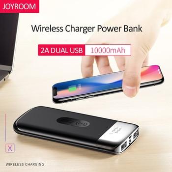 JOYROOM 10000 mAh cargador inalámbrico Qi cargador Dual USB 2.1A cargador rápido batería externa portátil para teléfono inteligente