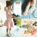 Coreano Bonito Padrão Meias Bebê Meias Crianças Meias Calcetines Menina Ocasional Rendas Para O Vestido de Crianças KD467 Sokken