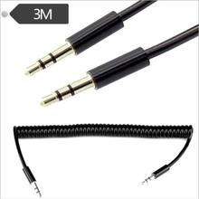 цены на Telescopic DC3.5 male to male audio spring cable Car AUX mobile phone audio to copy line 3 meters  в интернет-магазинах