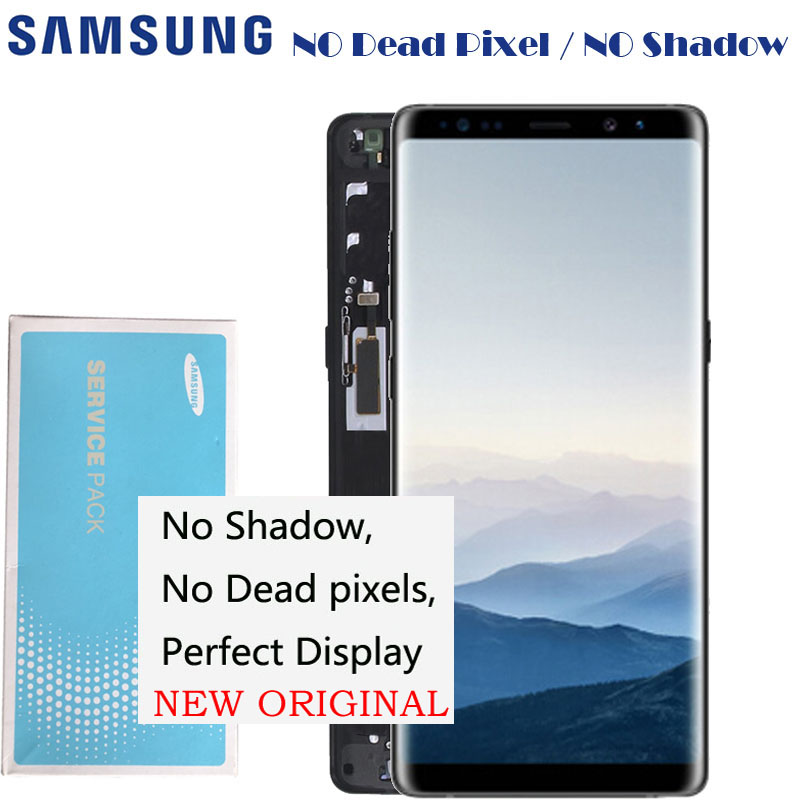 2960 1440 6 3 ORIGINAL NEW LCD Display With Frame For SAMSUNG Galaxy Note 8 Note8