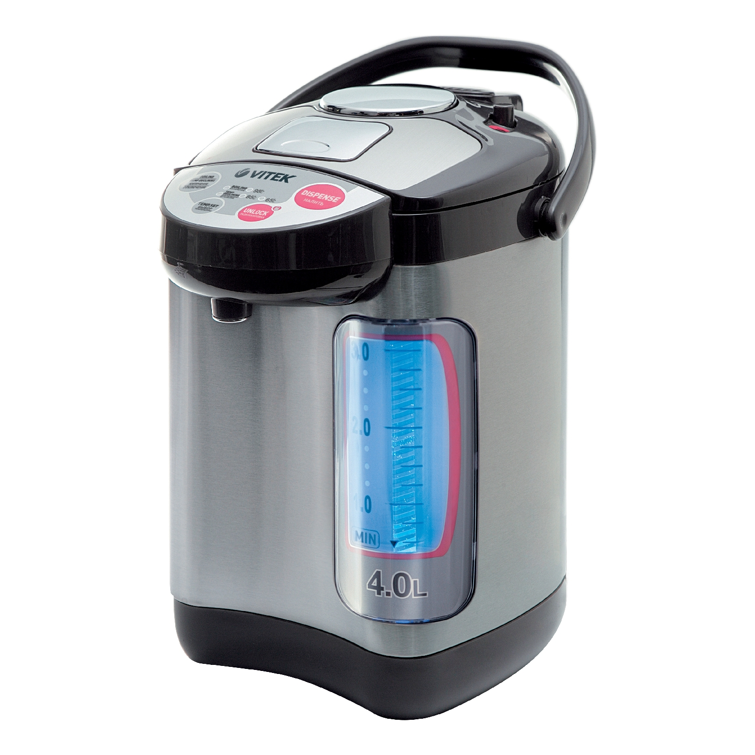 все цены на Thermal Vitek VT-1188 (GY) (Power 750 W, volume 4 liters, 3 ways of spilling water, automatic water supply by touching the cup) онлайн