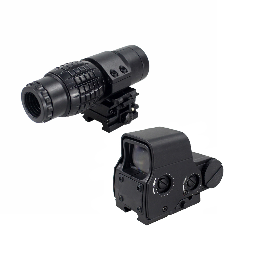 Hunting 3x Magnifier Riflescope Magnifying Scope For Riflescopes Mount Fits Holographic And Reflex Sight For Toy Gun