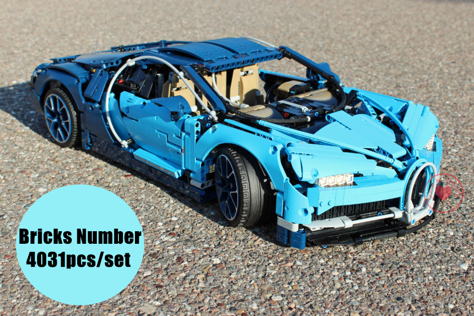 New Technic series Blue Car fit legoings technic chiron racing car city Building Block Bricks Kids 42083 Gift kid diy toys boy