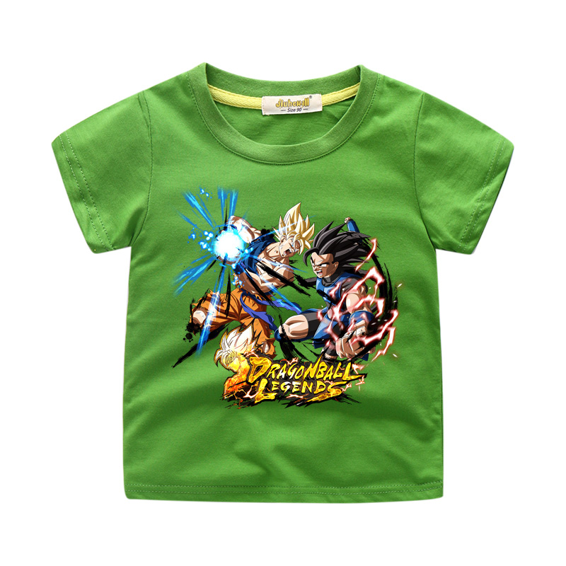 Dragon Ball Cartoon T-shirts For Toddler Kids Clothes Boy Summer Short Sleeve Tee Top Girls Cotton 3D Print Casual Tshirts WJ220(China)