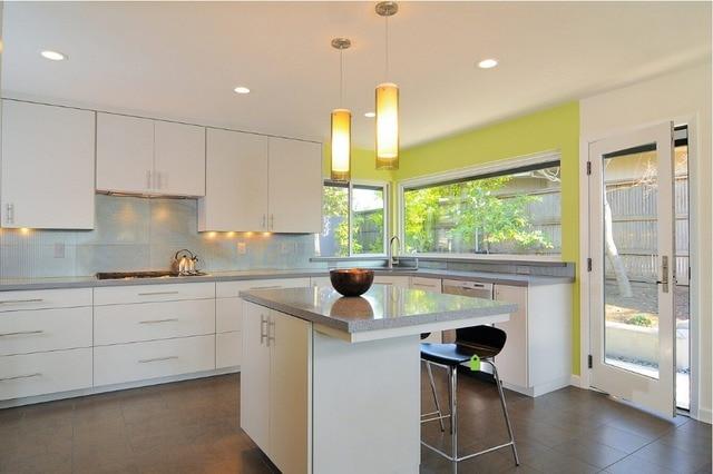 2019 stile contemporaneo lucido laccato bianco mobili da cucina ...