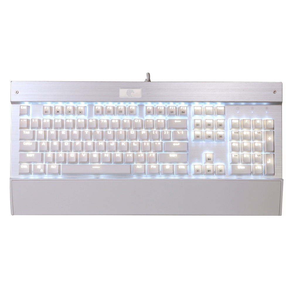 2016 New Backlit Chroma Antighosting USB Mechanical Gaming Keyboard 104 Keys Blue Switches