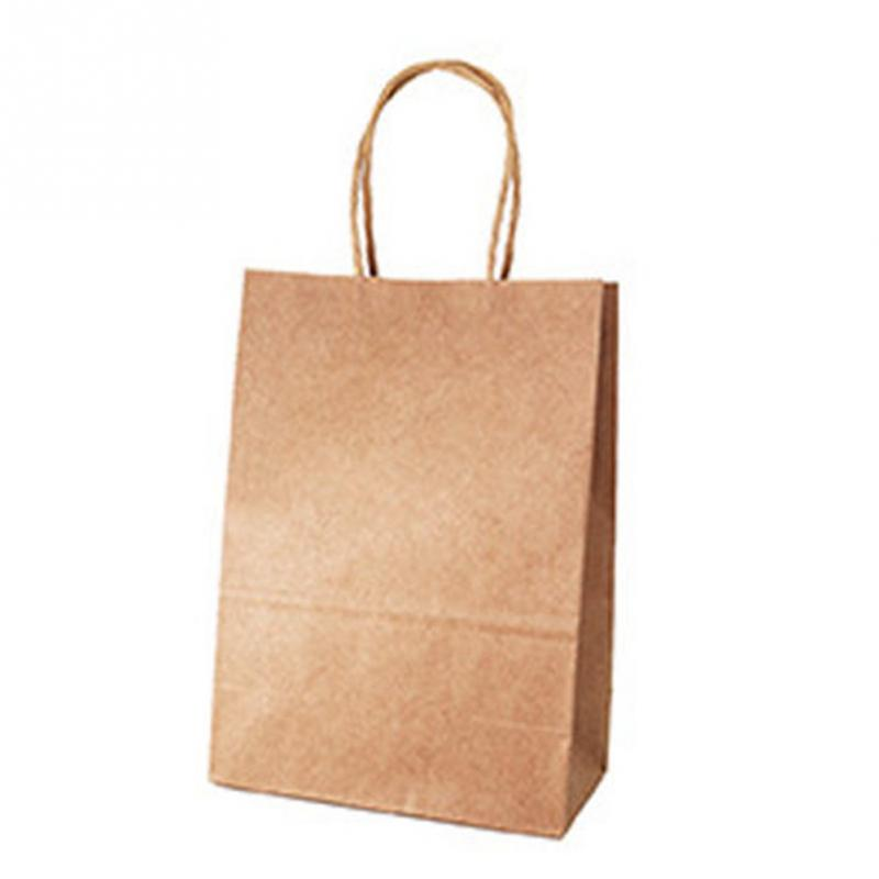 Kraft-Paper-Bag Gift Bag Jewelry Handles Festival Wedding Birthday-Party Sweet with Color