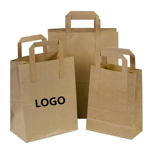 Manufacturers Whole 5000pcs Lot Recycle Kraft Brown Paper Ping Bags Custom Printed Logo With