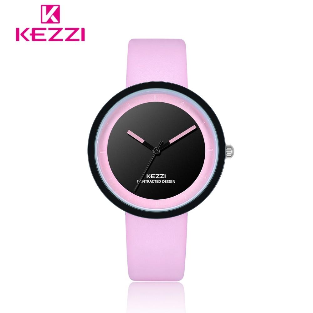 KEZZI Women Watches Top Brand Unique Designer Pink Watch Ladies Luxury Casual Leather Clock reloj Relogio Feminino reloj mujer relogio feminino dourado reloj mujer