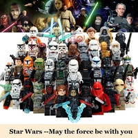 Star Wars Clone Storm Trooper Yoda Darth Vader Figures Building Blocks Compatible With Legod Brick Toys