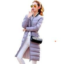 2016 New Spring Winter Women Jacket Women's Clothing Loose Warm Outwear Slim Down & Parkas Cotton-Padded Long Coat Female C325