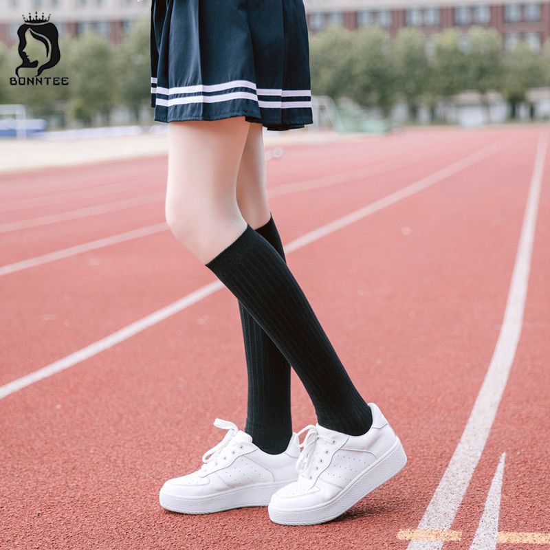 Harajuku Kawaii Hot Sales Breathable Stockings Women Knee High Socks Womens Fashion Female Elasticity Females Stocking Students ...