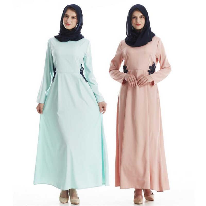 Модное мусульманское платье, летнее женское кружевное платье abaya 2019, сексуальный Дубаи, длинный Восточный халат, женская мусульманская одежда, Рамадан, Молитвенное платье, длинное