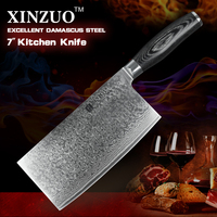XINZUO NEW High Quality 7 Inches Slice Knife Damascus Steel Kitchen Knife Fashion Chinese Chef Knife