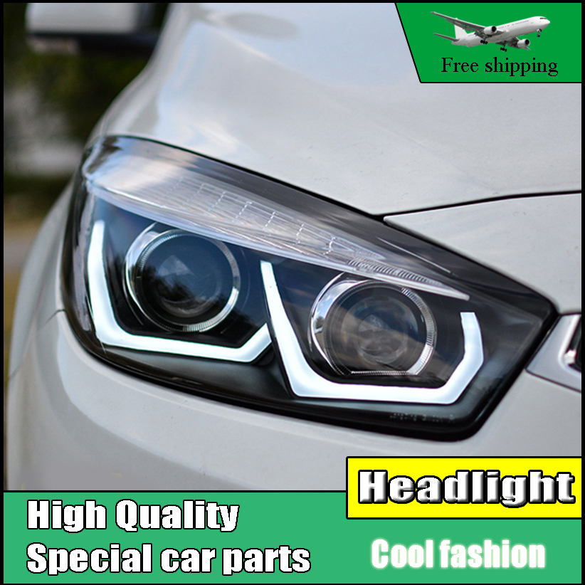 Car Styling Head Lamp For Chevrolet Cruze headlights 2015 2016 LED U Angel Eyes headlight DRL Bi-Xenon Lens xenon HID Low Beam hireno headlamp for hodna fit jazz 2014 2015 2016 headlight headlight assembly led drl angel lens double beam hid xenon 2pcs