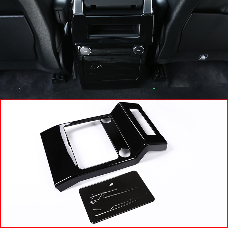 For Land rover Discovery 5 LR5 L462 2017-2018 ABS Chrome Armrest Box Rear Air Outlet Panel Cover Trim Car Accessory Styling