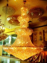 Crystal Chandelier Light Stairs Foyer Crystal Stair Lights Golden Pendant Lamp Empire Hotel Chandelier Crystal(China)