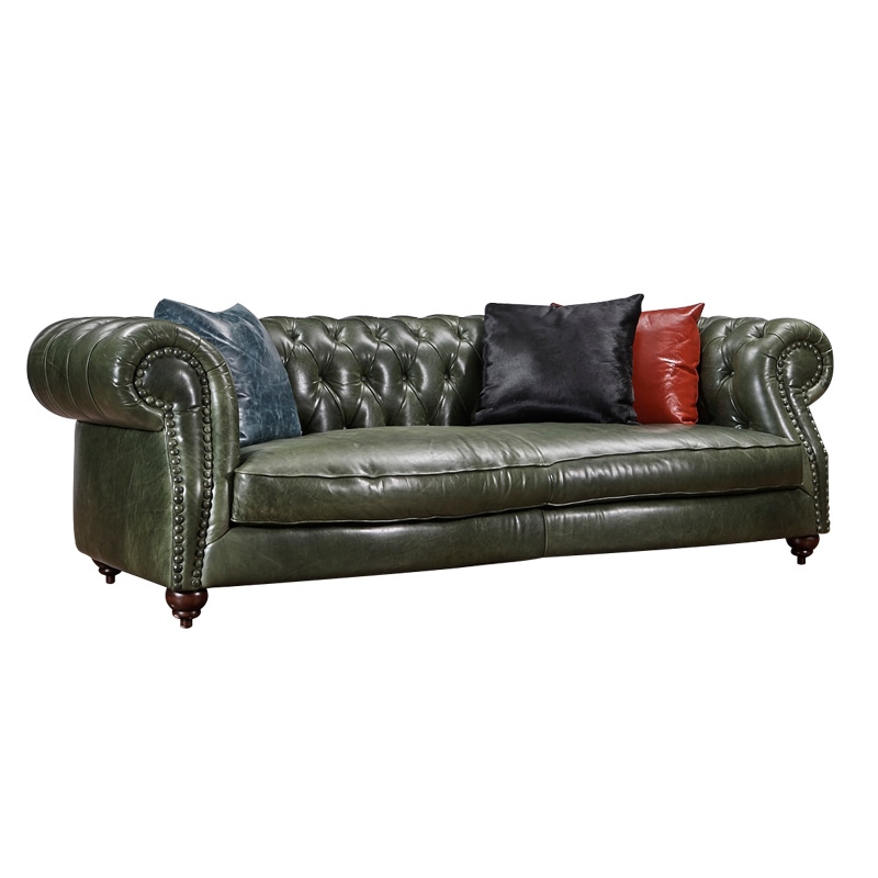 Full italian leather Chesterfield sofa Classic sofa for antique style sofa only 3 seater europe classic vintage leather sofa 4 seat chesterfield leather sofa hot sale dubai leather sofa furniture w35