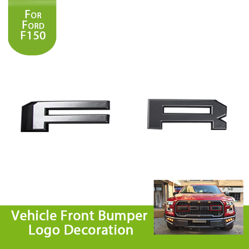 for Ford F150 F-150 Raptor 2015 2016 2017 Car Front Bumper Grille Letters F & R