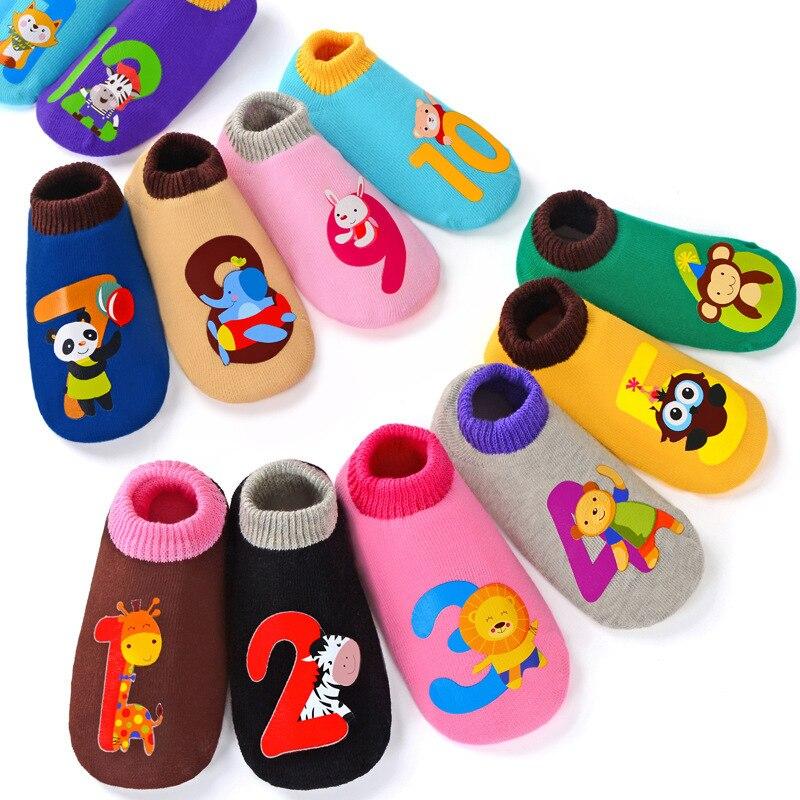 2019 New Pattern Children Floor Socks Baby Non-slip Socks Cotton For Newborn Korean Cartoon Children Socks Spring And Autumn