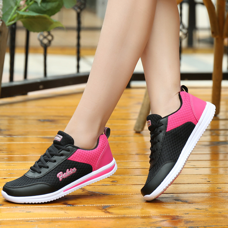 Sneakers women shoes 2018 new lace-up outdoor casual female shoes woman breathable mesh breathable ladies shoes tenis feminino women shoes sneakers 2018 fashion mesh breathable non slip lightweight female shoe woman tenis feminino