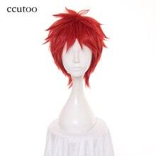 Ccutoo 30 см Uta no Prince sama Otoya Ittoki красный короткий пушистый слоистый синтетический парик для косплея