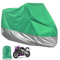 Green Silver Motorcycle Cover XXL Size Outdoor Rain UV Dust Protection Dustproof Washable Pit Dirt Bike 265*105*125cm