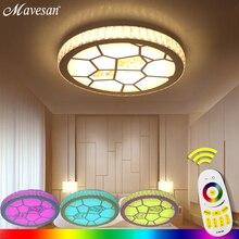 Moderne Deckenleuchten RGB Lampe Plafonnier Led 24G RF Remote Lamparas De Techo Luminaria Fr Schlafzimmer Wohnzimmer L