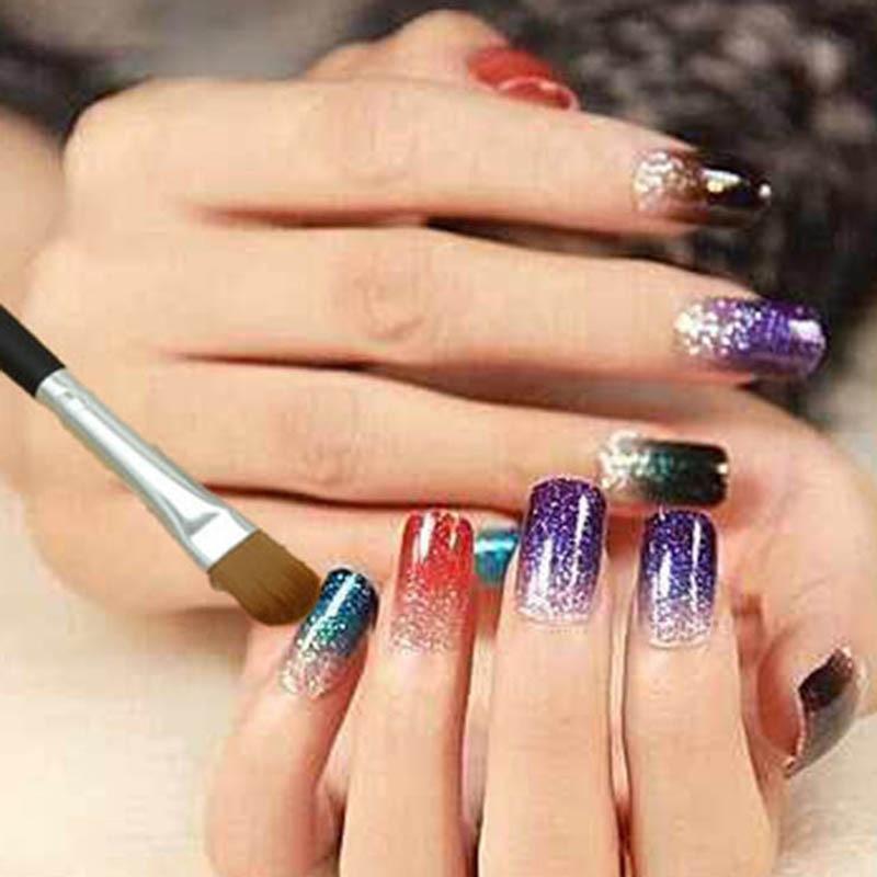 New Nail Art Gradient Brushes Powder Glitter Applicator UV Gel Nail ...