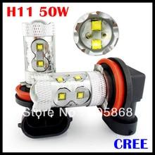 Внешнее освещение 50 Вт! Фонарь H4 H7 H11 свет кри фишек LED XBD Чипсет высокое Мощность светодиодные лампы