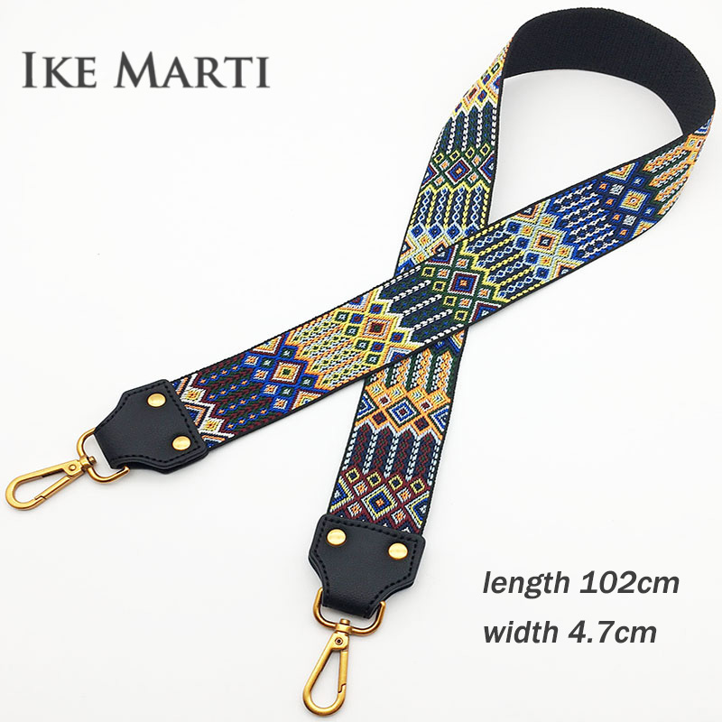 2018 Fashion Embroidery Wide Shoulder Bag Strap For Bags Accessories Female Handbag Straps You Colorful Straps For Handbags Belt