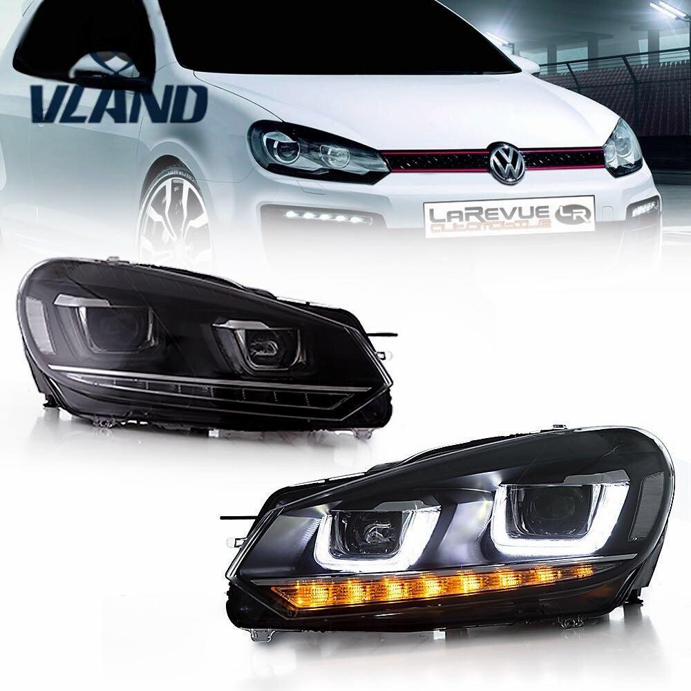 VLAND Usine Pour Phare De Voiture pour Golf 6 Pour Mk6 Tête lumière R20 LED Tête Lampe DRL Déplacement Du Signal H7 d2H HID Bi Xénon