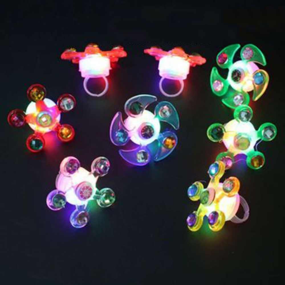 Fidget spinner Light Up Ring Stress Relief zabawki typu fidget Supplies Party dobrodziejstw
