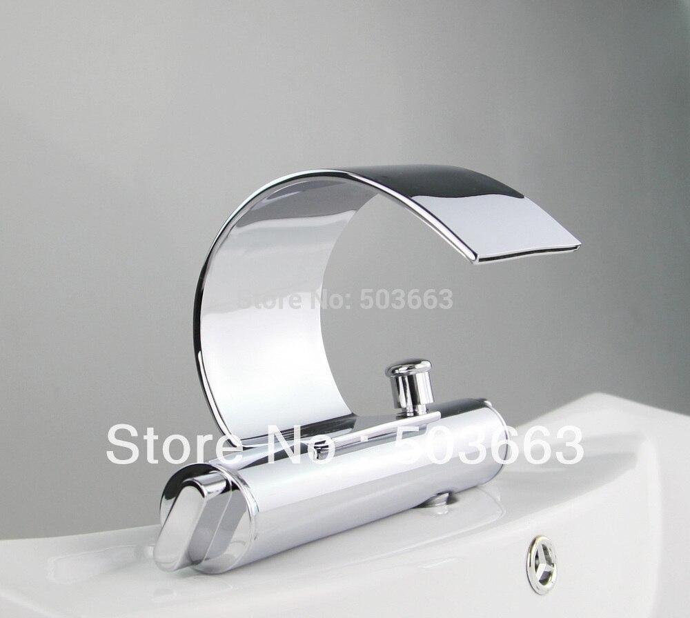 durable solid brass chrome finish deck mount bathroom faucet basin ...