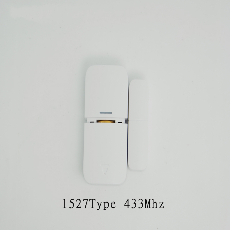 Wireless Magnetic Sensor 1527 433MHz Door Window open Detector For GSM Alarm system anti-burglar Without battery Free Shipping