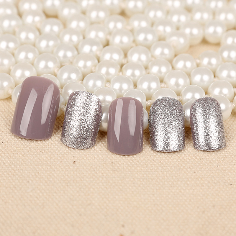 High Qaulity Attach the style Fake Nails 24pcs classic Pure color ...