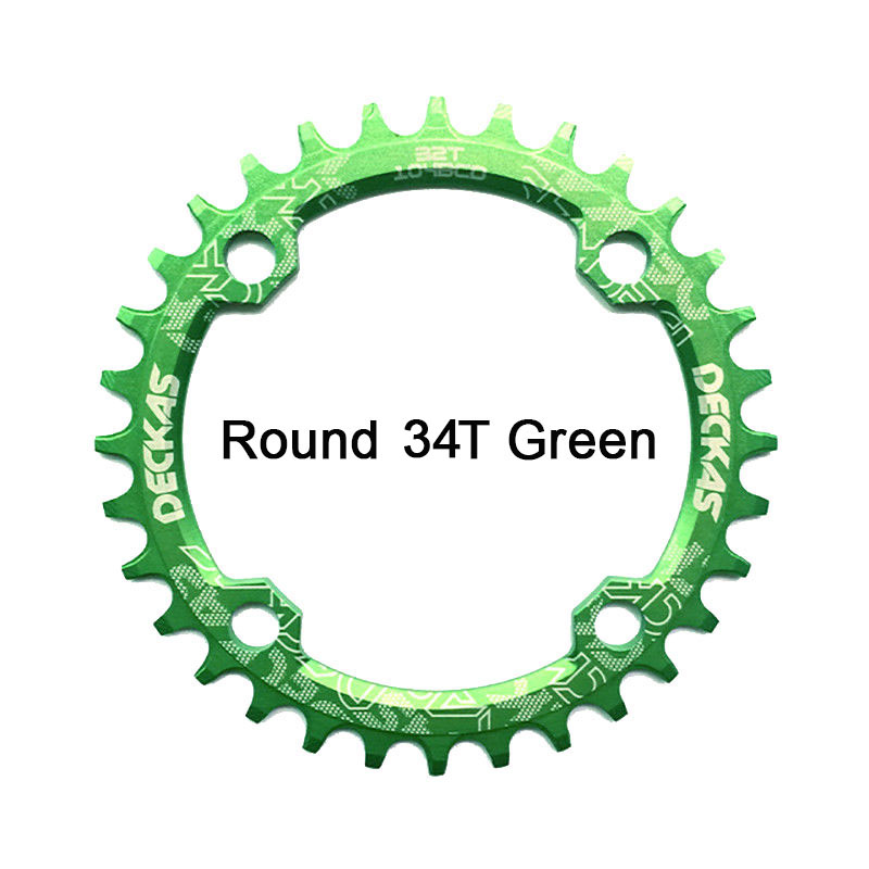Bike Crank 104BCD Narrow Wide Crankset Single Plate 32T34T36T38T MTB Chainring Bicycle Chainwheel Bike Circle Round Shape (10)