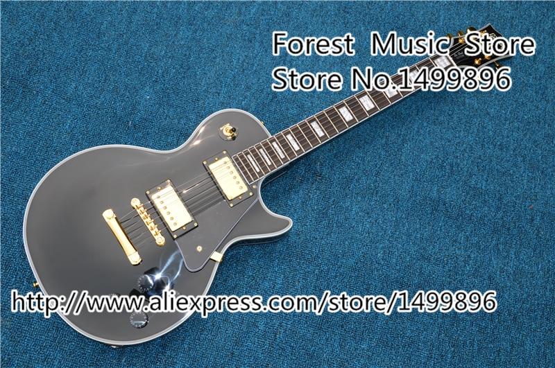 Top vente noir lp custom guitars électrique chine oem matériel d'or guitarra gaucher disponible